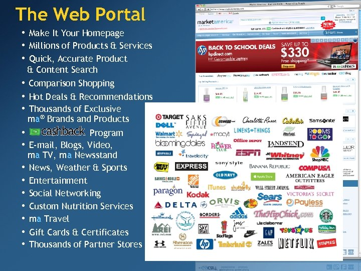 The Web Portal • Make It Your Homepage • Millions of Products & Services