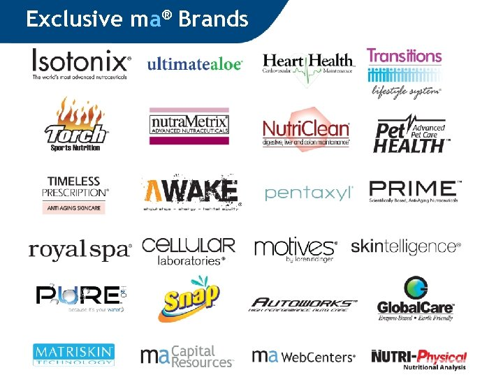 Exclusive ma® Brands