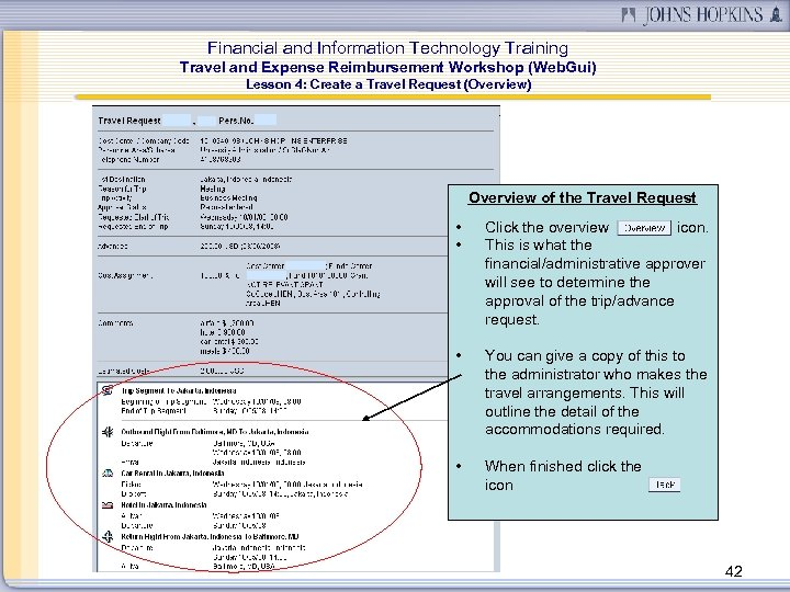 Financial and Information Technology Training Travel and Expense Reimbursement Workshop (Web. Gui) Lesson 4:
