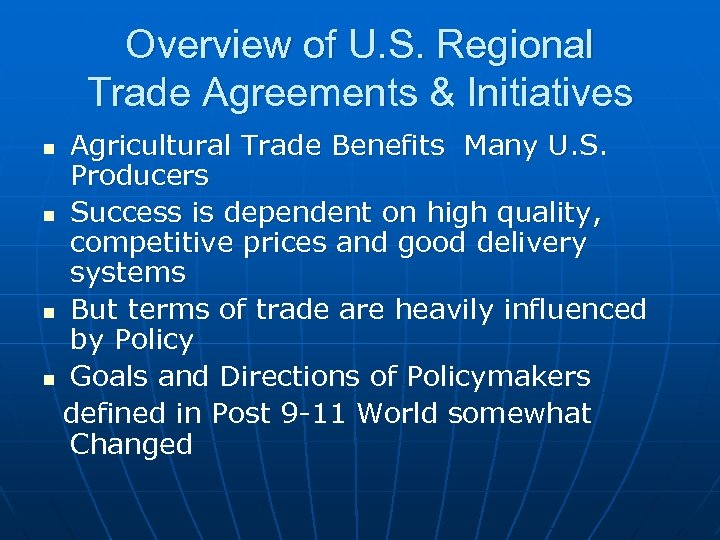 The Dr Central American Free Trade Agreement What S At