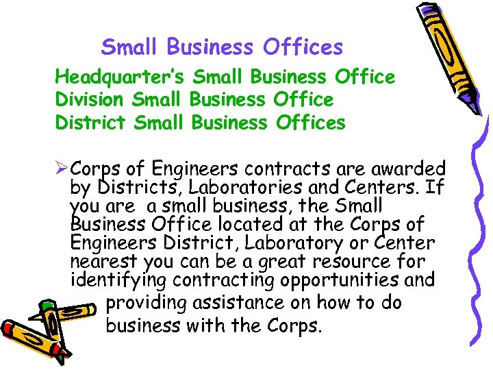 Small Business Offices Headquarter's Small Business Office Division Small Business Office District Small Business