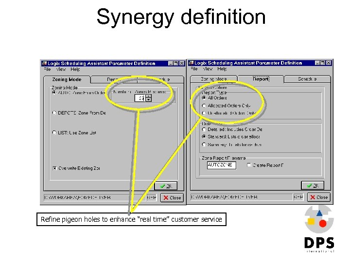 """Synergy definition Refine pigeon holes to enhance """"real time"""" customer service"""