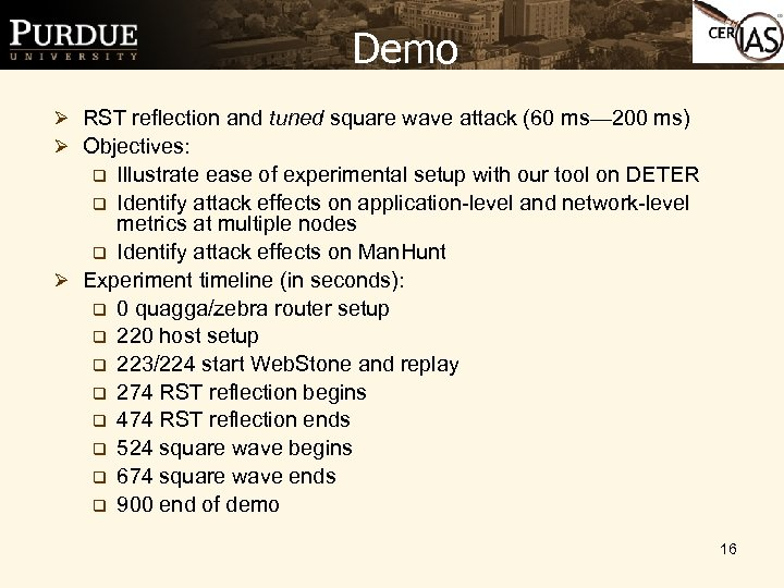 Demo Ø RST reflection and tuned square wave attack (60 ms— 200 ms) Ø
