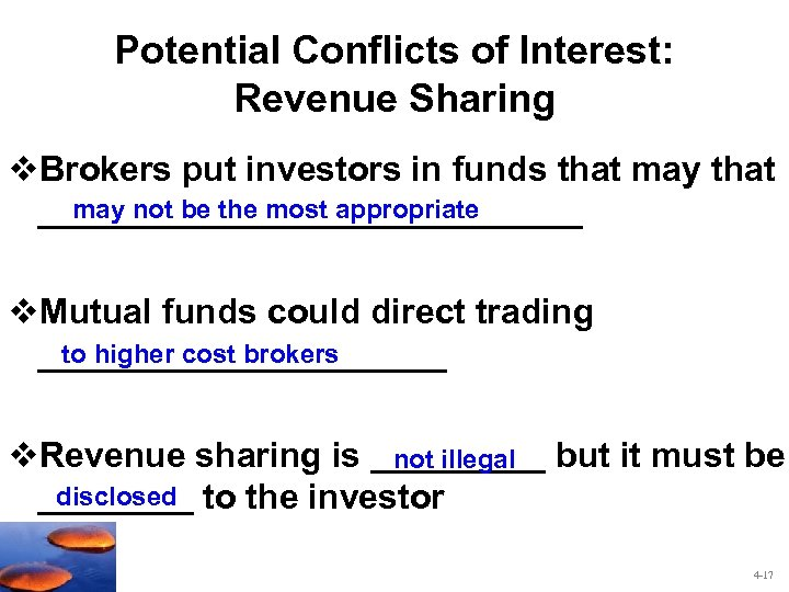 Potential Conflicts of Interest: Revenue Sharing v. Brokers put investors in funds that may