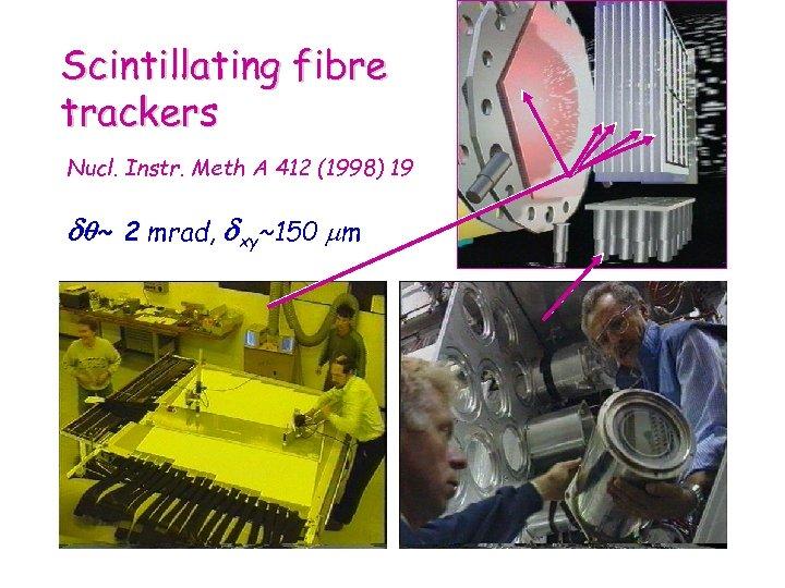 Scintillating fibre trackers Nucl. Instr. Meth A 412 (1998) 19 ~ 2 mrad, xy~150