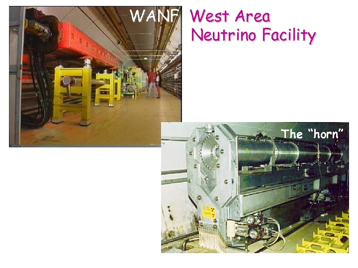 "WANF West Area Neutrino Facility The ""horn"""