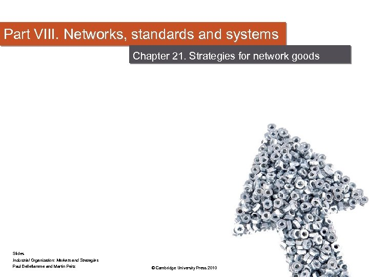 Part VIII. Networks, standards and systems Chapter 21. Strategies for network goods Slides Industrial