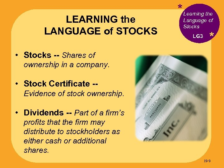LEARNING the LANGUAGE of STOCKS * Learning the Language of Stocks LG 3 *