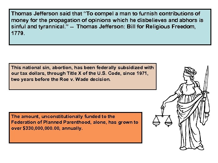 """Thomas Jefferson said that """"To compel a man to furnish contributions of money for"""