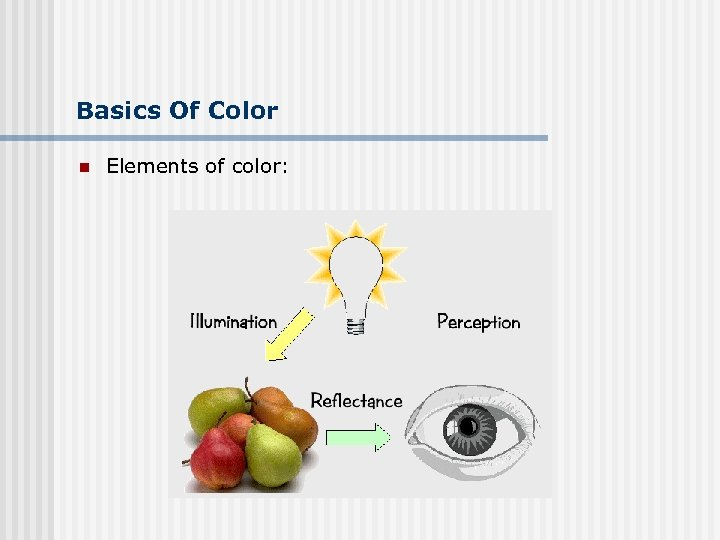 Basics Of Color n Elements of color: