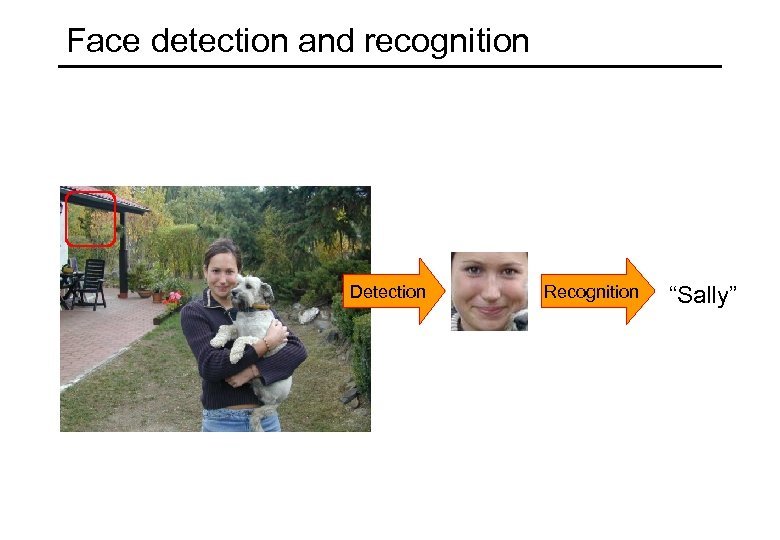 """Face detection and recognition Detection Recognition """"Sally"""""""