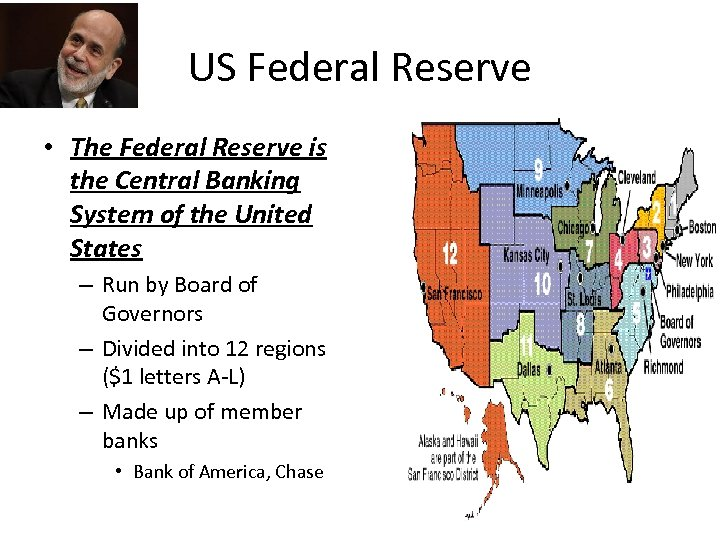 US Federal Reserve • The Federal Reserve is the Central Banking System of the