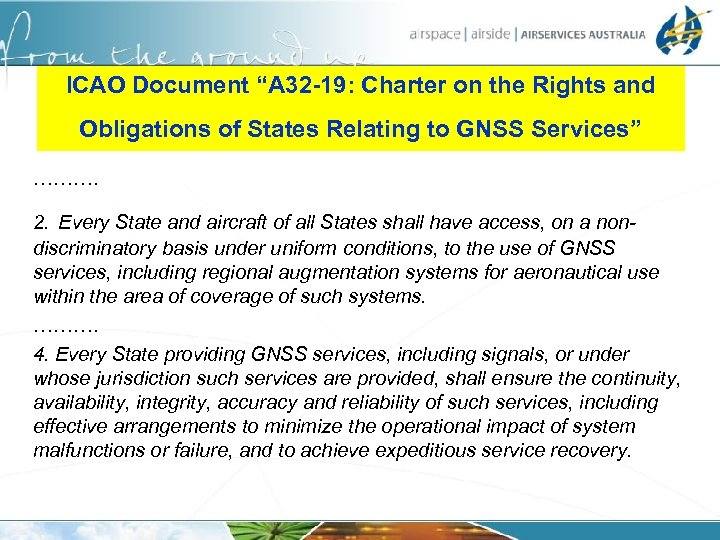 """ICAO Document """"A 32 -19: Charter on the Rights and Obligations of States Relating"""