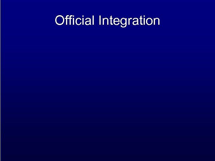 Official Integration