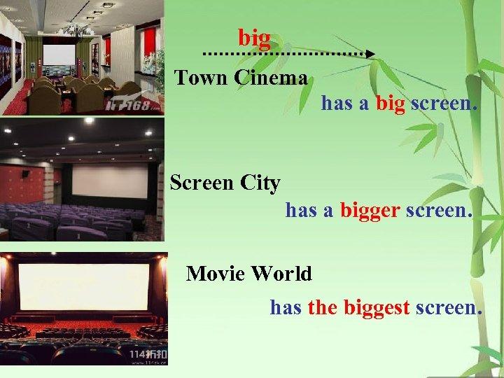 big Town Cinema has a big screen. Screen City has a bigger screen. Movie