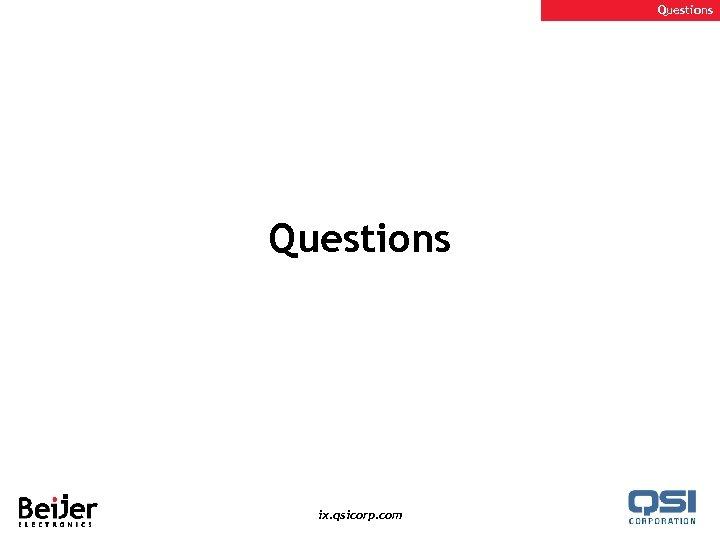 Questions ix. qsicorp. com