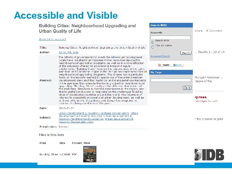Accessible and Visible