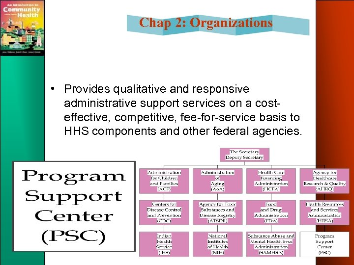 Chap 2: Organizations • Provides qualitative and responsive administrative support services on a costeffective,