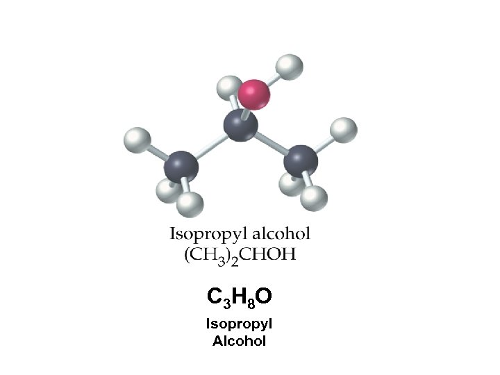 C 3 H 8 O Isopropyl Alcohol