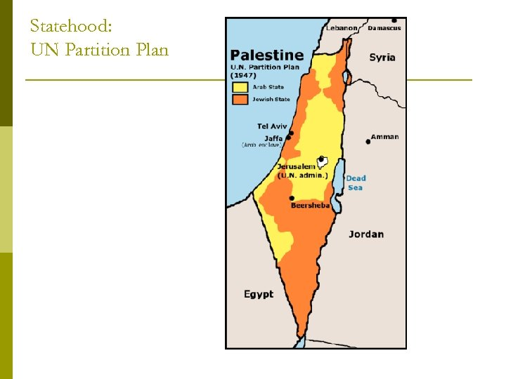 Statehood: UN Partition Plan