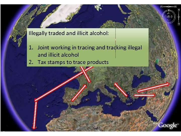 Illegally traded and illicit alcohol: 1. Joint working in tracing and tracking illegal and