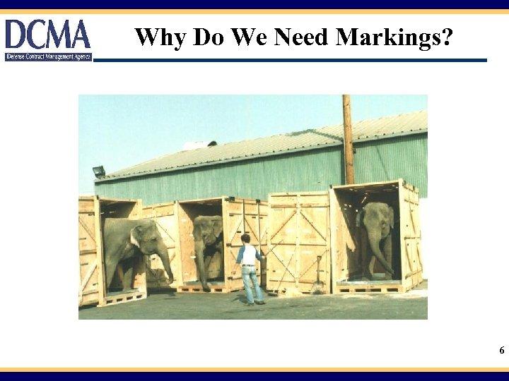 Why Do We Need Markings? 6
