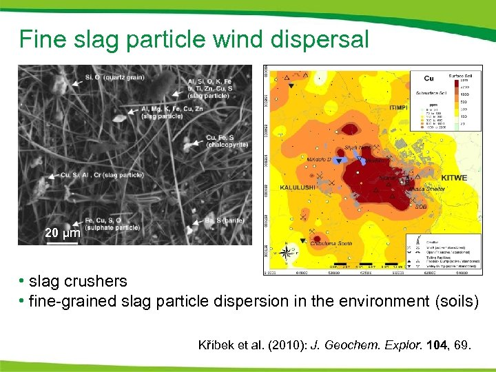 Fine slag particle wind dispersal 20 μm • slag crushers • fine-grained slag particle