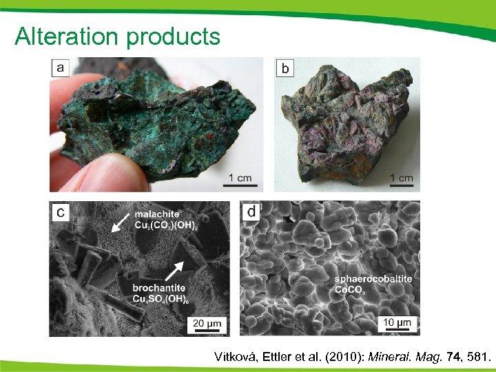 Alteration products Vítková, Ettler et al. (2010): Mineral. Mag. 74, 581.