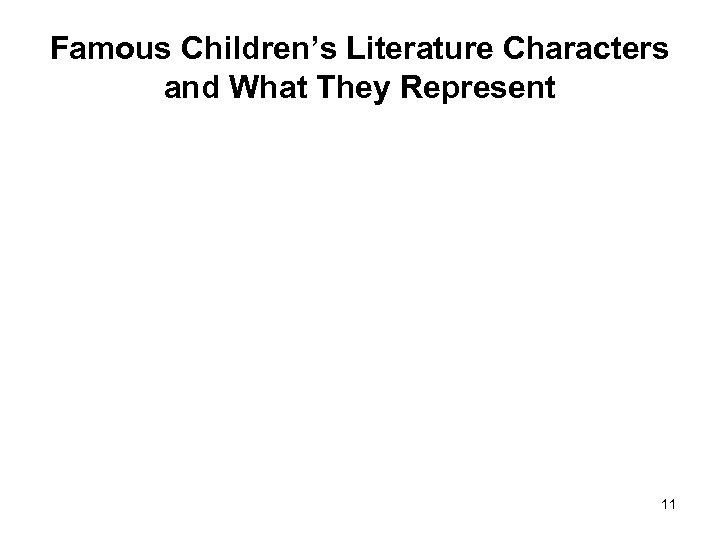 Famous Children's Literature Characters and What They Represent 11