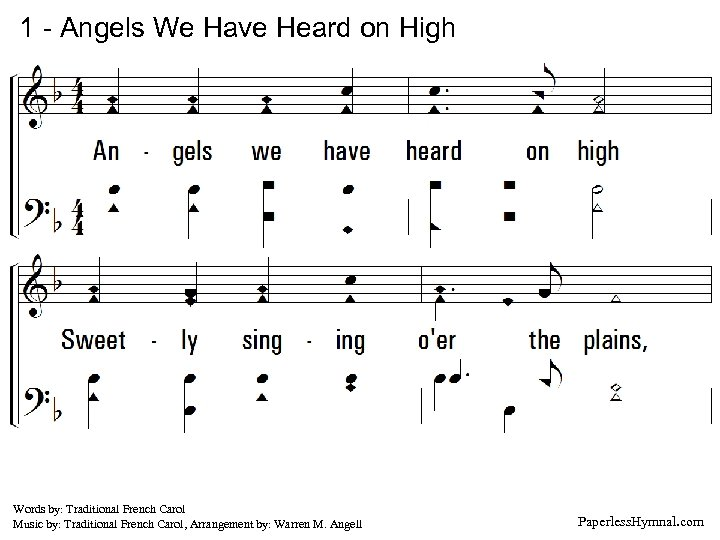 1 - Angels We Have Heard on High 1. Angels we have heard on