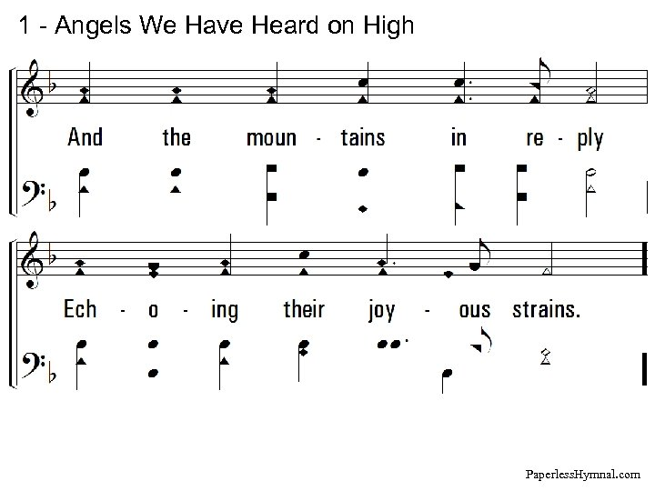1 - Angels We Have Heard on High Paperless. Hymnal. com
