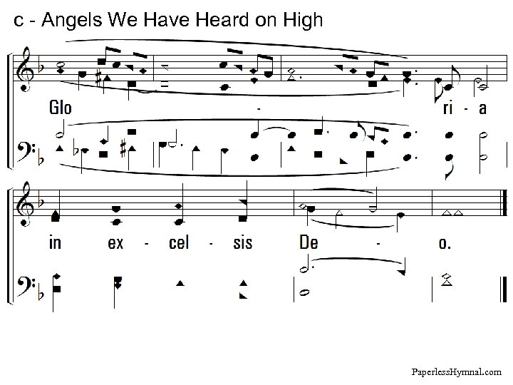 c - Angels We Have Heard on High Paperless. Hymnal. com