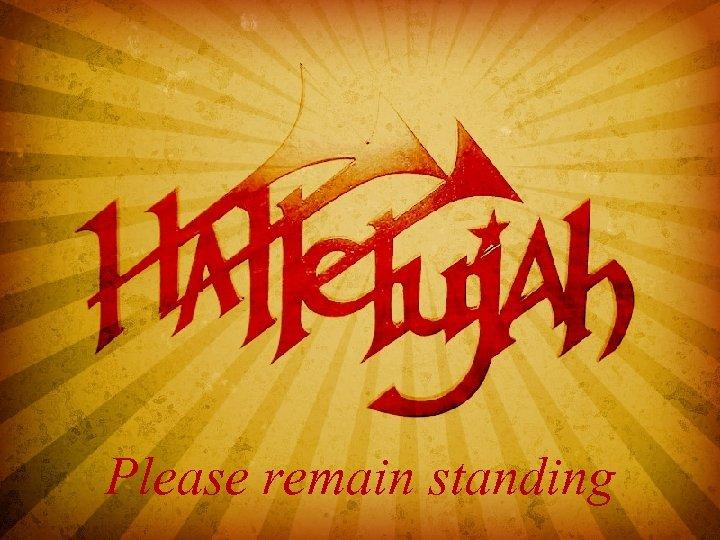 Hallelujah Chorus - start at the beginning of the singing - this will advance