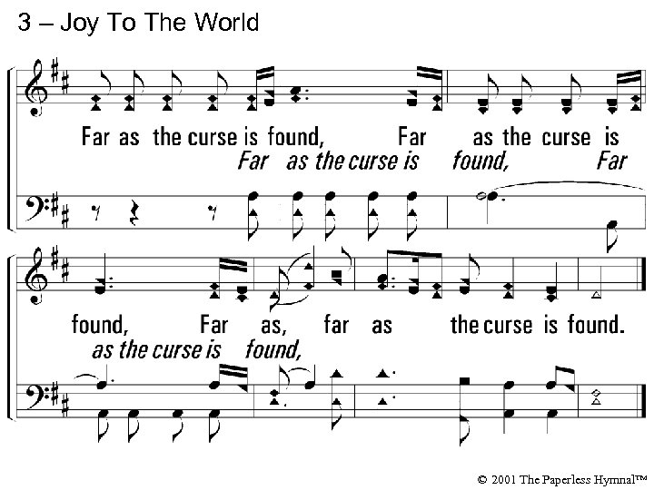 3 – Joy To The World © 2001 The Paperless Hymnal™