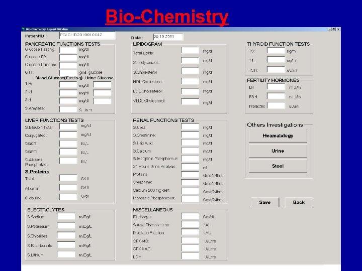 Bio-Chemistry