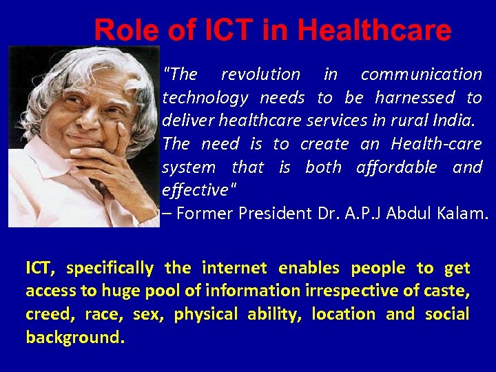 Role of ICT in Healthcare