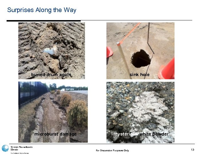 Surprises Along the Way buried drum again microburst damage sink hole mysterious white powder