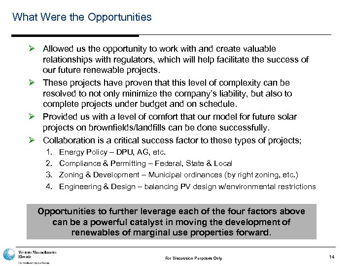 What Were the Opportunities Ø Allowed us the opportunity to work with and create