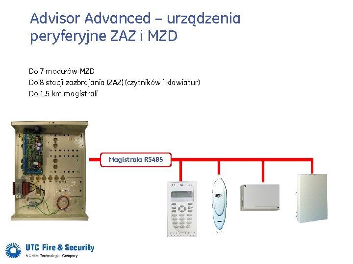 Advisor Advanced – urządzenia peryferyjne ZAZ i MZD Do 7 modułów MZD Do 8