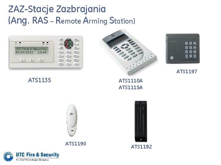ZAZ-Stacje Zazbrajania (Ang. RAS – Remote Arming Station) ATS 1197 ATS 1135 ATS 1110