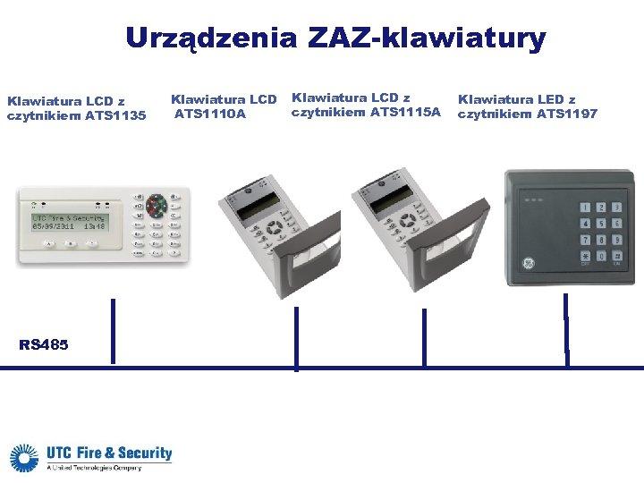Urządzenia ZAZ-klawiatury Klawiatura LCD z czytnikiem ATS 1135 RS 485 Klawiatura LCD ATS 1110