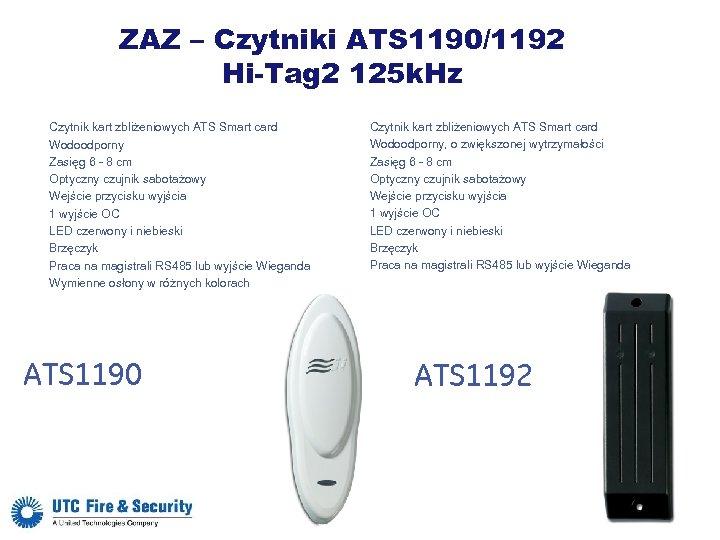 ZAZ – Czytniki ATS 1190/1192 Hi-Tag 2 125 k. Hz Czytnik kart zbliżeniowych ATS