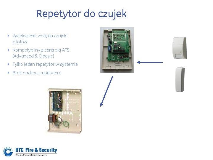 Repetytor do czujek • Zwiększenie zasięgu czujek i pilotów • Kompatybilny z centralą ATS