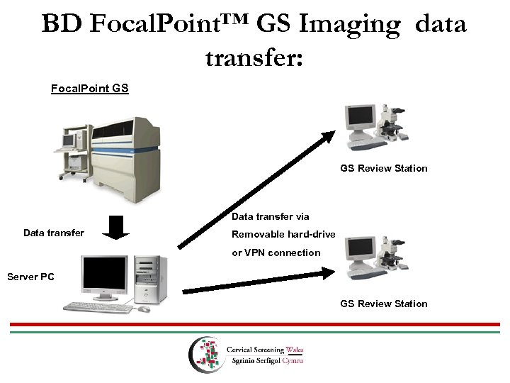 BD Focal. Point™ GS Imaging data transfer: Focal. Point GS GS Review Station Data