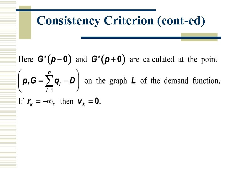 Consistency Criterion (cont-ed)