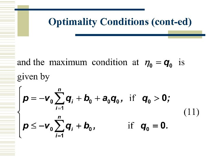 Optimality Conditions (cont-ed)