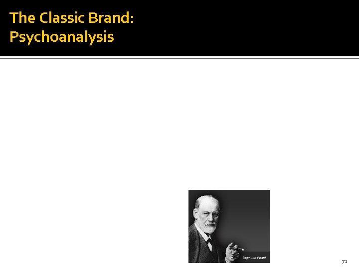 The Classic Brand: Psychoanalysis 71