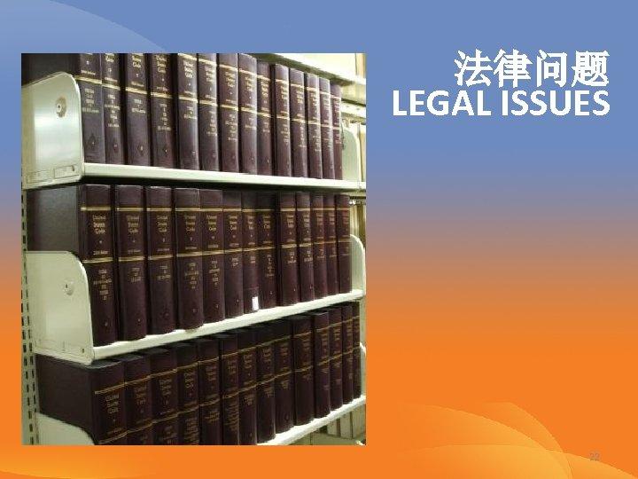 法律问题 LEGAL ISSUES 22