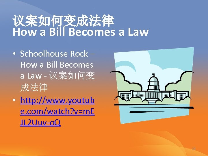 议案如何变成法律 How a Bill Becomes a Law • Schoolhouse Rock – How a Bill