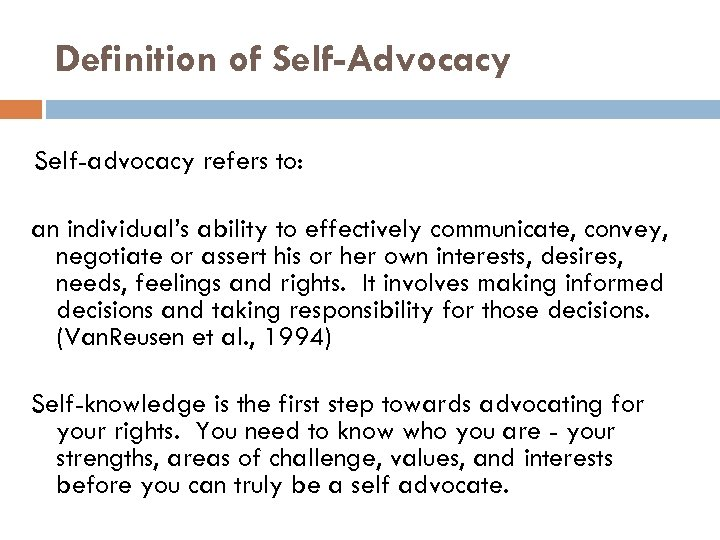 Know It 2 Own It Advocating For Your >> Self Advocacy A Skill And A Right